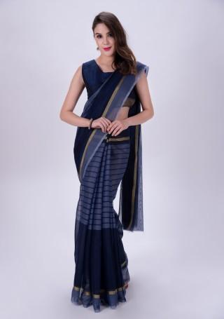 Cotton Chanderi Silk Saree