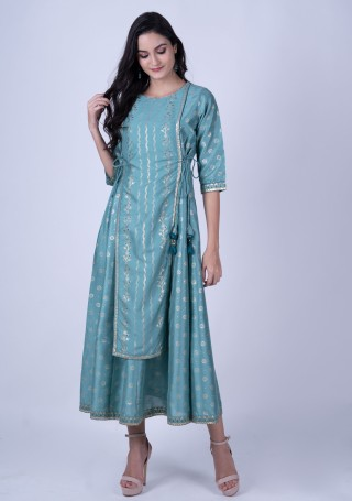 Light Green Poly Silk Kurta